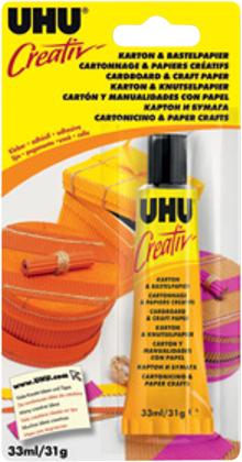 UHU Kreatív karton- és papírragasztó 33 ml